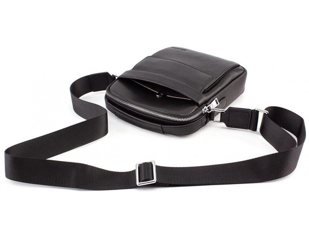 Чёрная брендовая сумка-барсетка Marco Coverna 7706-1A black - Фото № 6