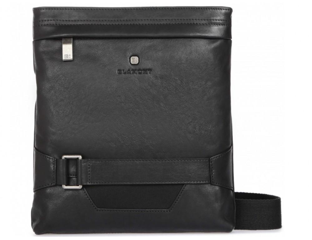 Чёрная кожаная сумка через плечо с одним отделением Blamont P7870761 - Фото № 1