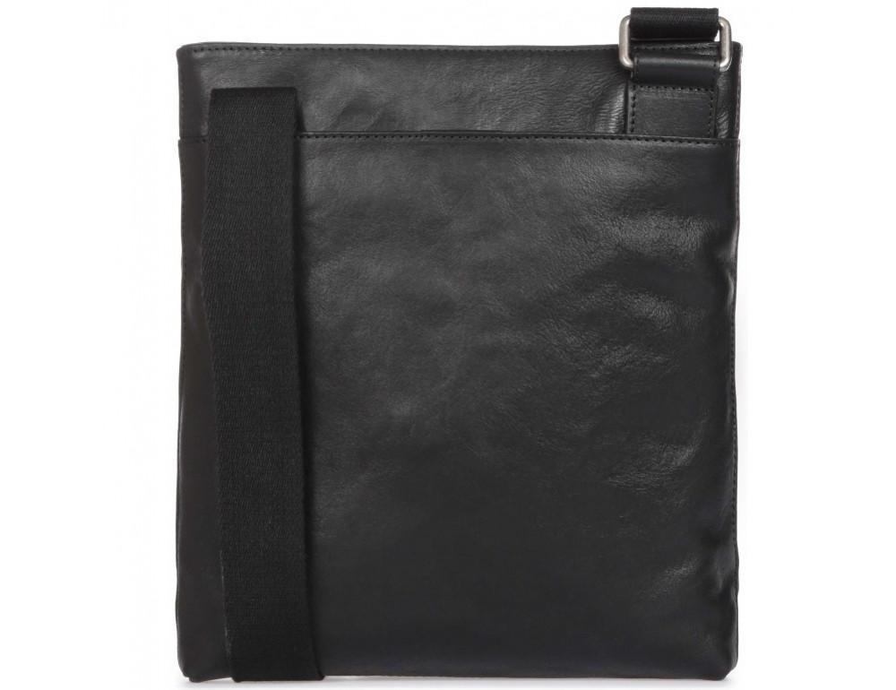 Чёрная кожаная сумка через плечо с одним отделением Blamont P7870761 - Фото № 4