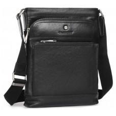 Чёрная кожаная сумка через плечо Blamont P7877721