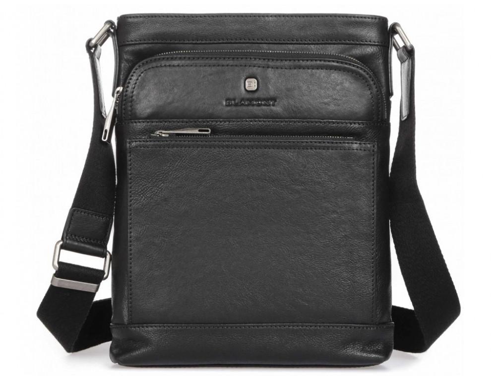 Чёрная кожаная сумка через плечо Blamont P7877721 - Фото № 3