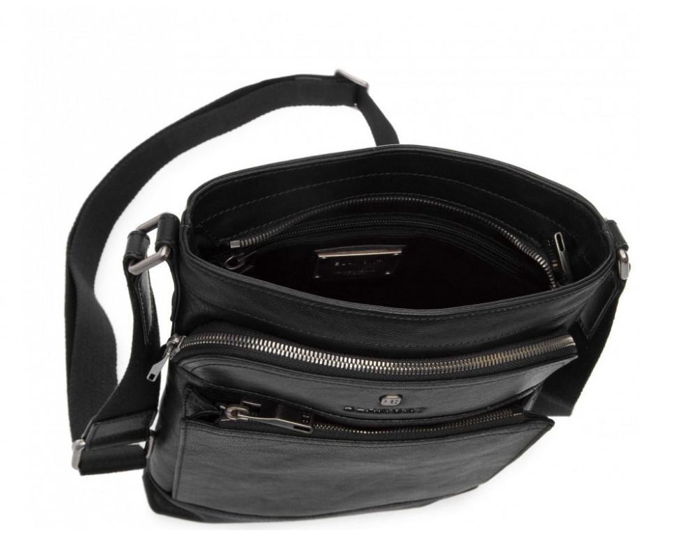 Чёрная кожаная сумка через плечо Blamont P7877721 - Фото № 4