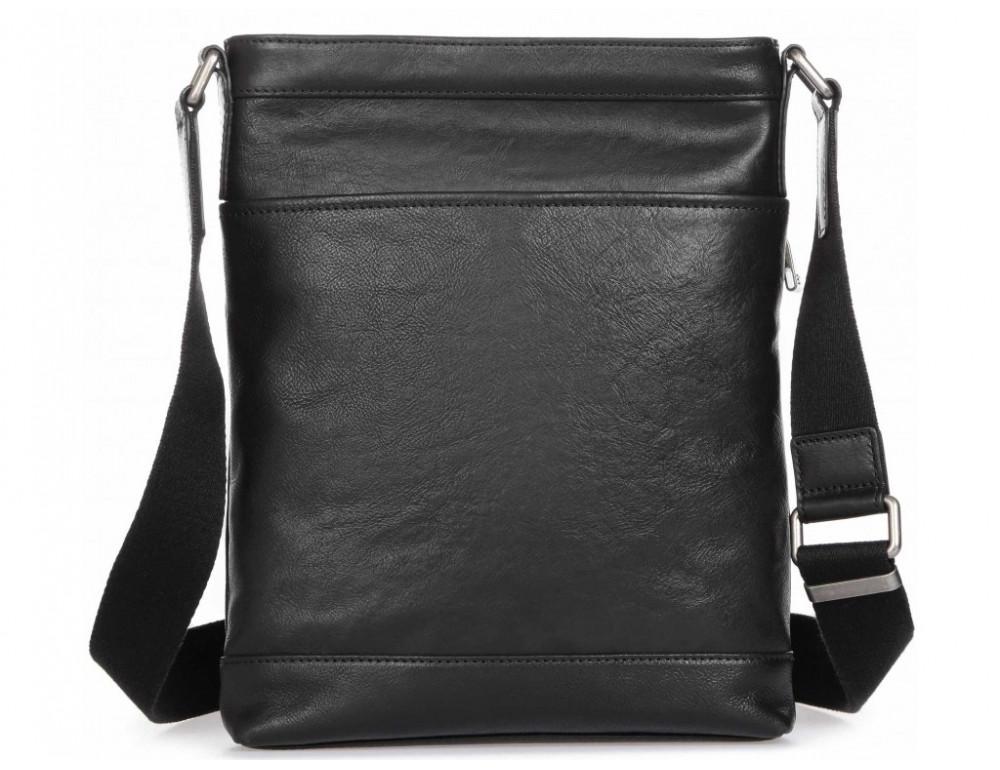 Чёрная кожаная сумка через плечо Blamont P7877721 - Фото № 5