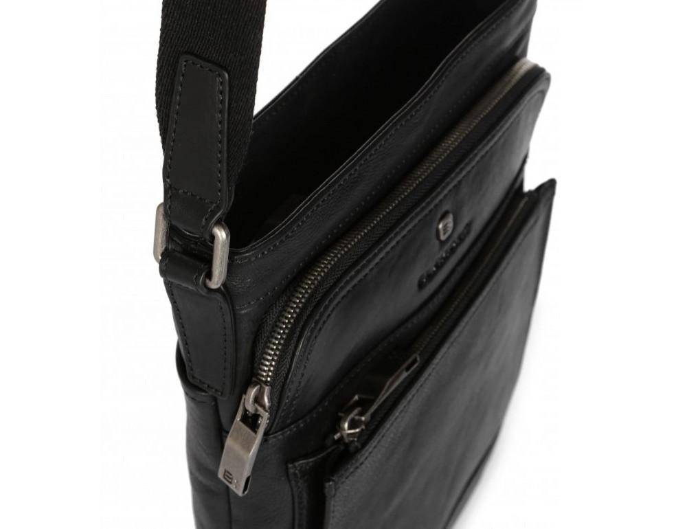 Чёрная кожаная сумка через плечо Blamont P7877721 - Фото № 6