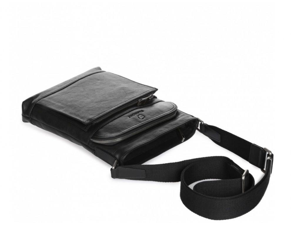 Чёрная кожаная сумка через плечо Blamont P7877721 - Фото № 7