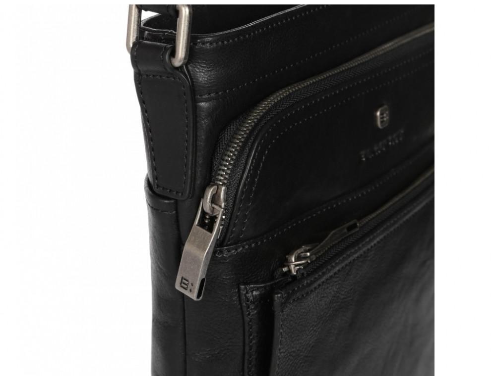 Чёрная кожаная сумка через плечо Blamont P7877721 - Фото № 9