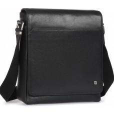 Чёрная кожаная сумка через плечо Blamont P7912021