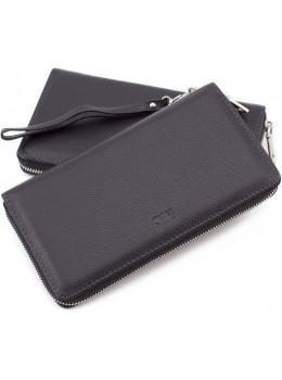 Чёрный кожаный клатч MD Leather 7m-1127