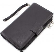 Чёрный мужской кожаный клатч под документы MD Leather 7M-182