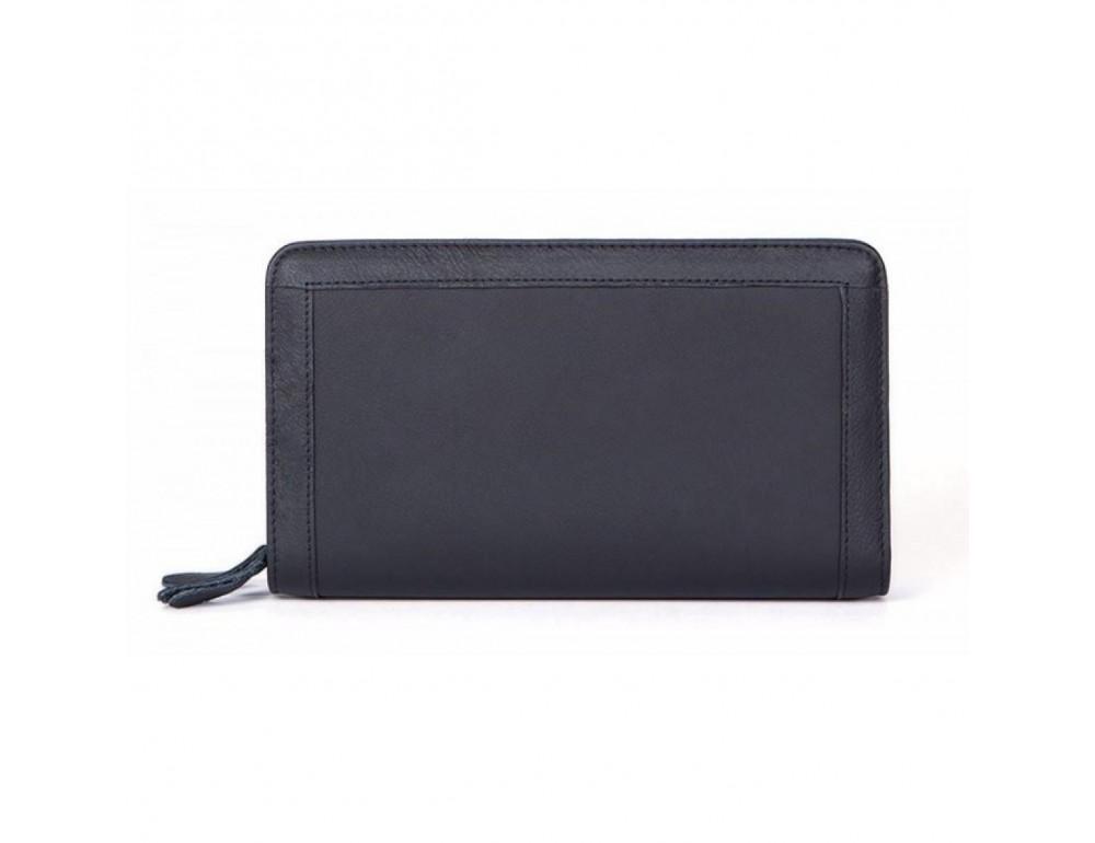 Чёрный кожаный клатч на два отделения TIDING BAG 8023A-1 - Фото № 2