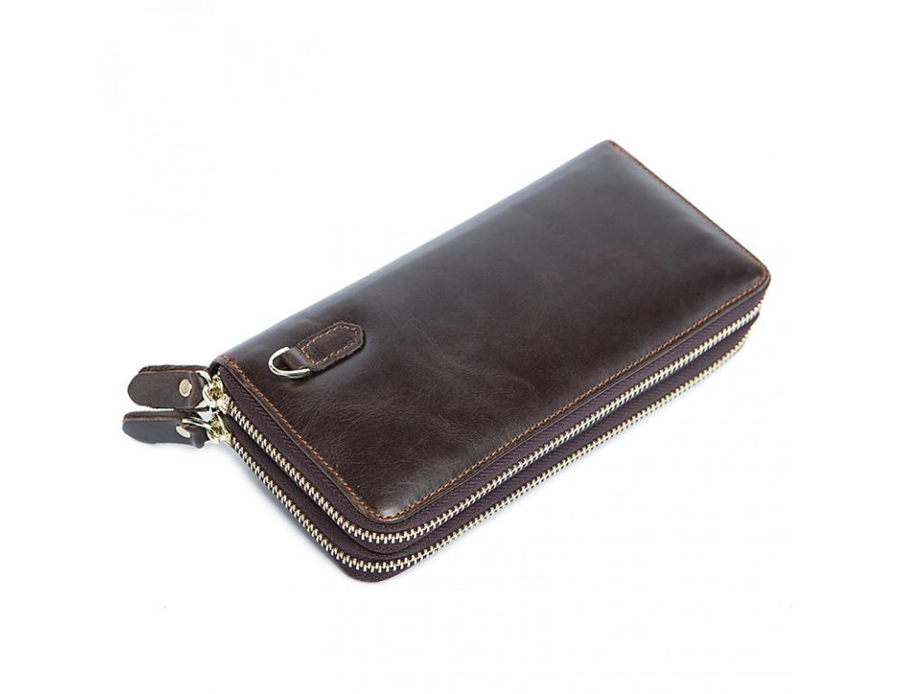 Кожаный клатч TIDING BAG 8026C темно-коричневый - Фото № 7