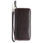 Кожаный клатч TIDING BAG 8026C темно-коричневый - Фото № 100