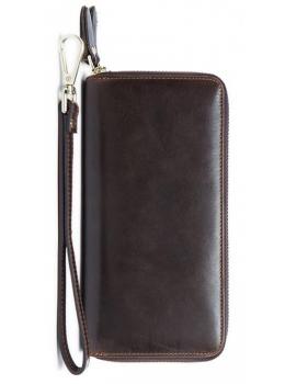 Кожаный клатч TIDING BAG 8026C темно-коричневый