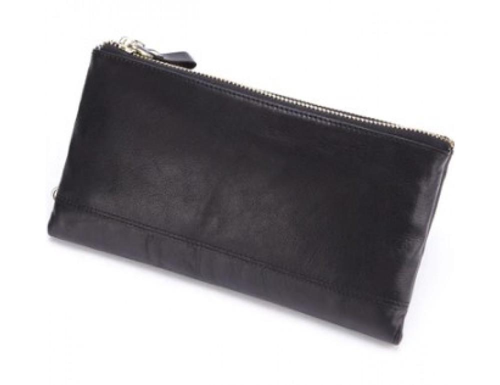 Мужской кожаный клатч TIDING BAG M23-8027A Чёрный - Фото № 2