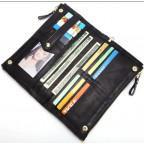 Мужской кожаный клатч TIDING BAG M23-8027A Чёрный - Фото № 100