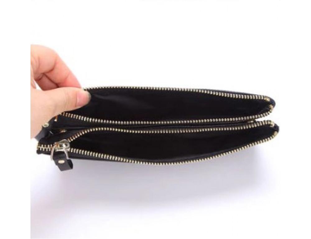 Мужской кожаный клатч TIDING BAG M23-8027A Чёрный - Фото № 3