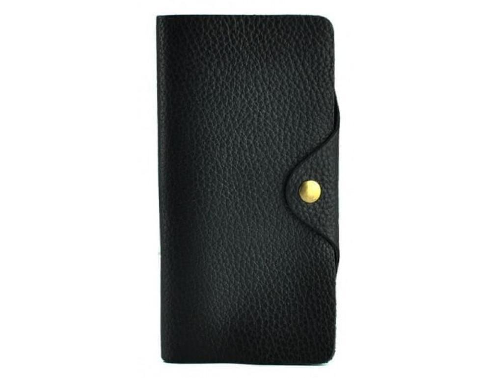 Кожаный портмоне TIDING BAG 8032A Чёрный - Фото № 1