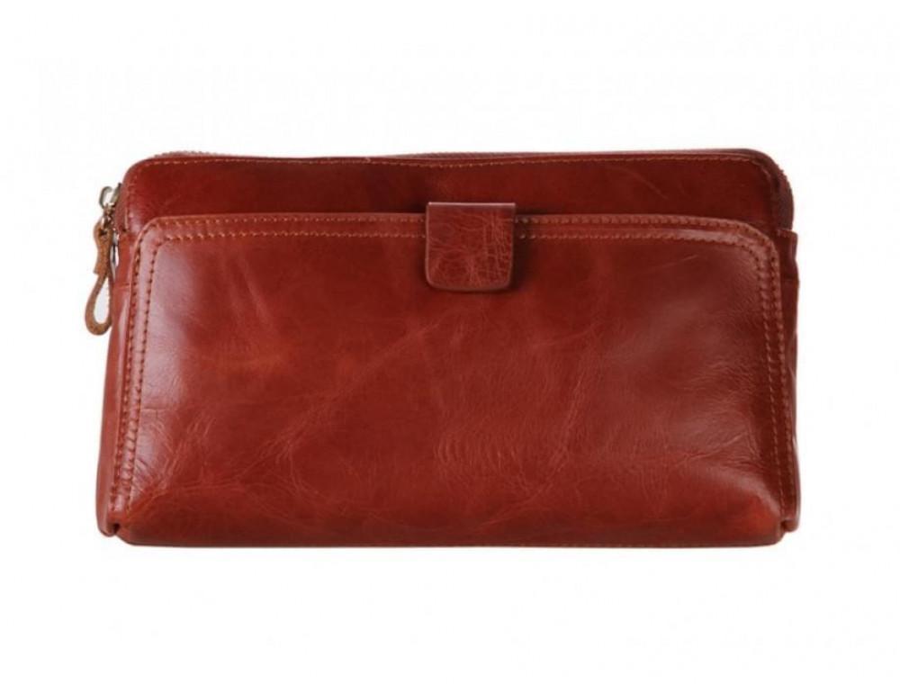 Шкіряний чоловічий клатч Tiding Bag 8037B світло-коричневий