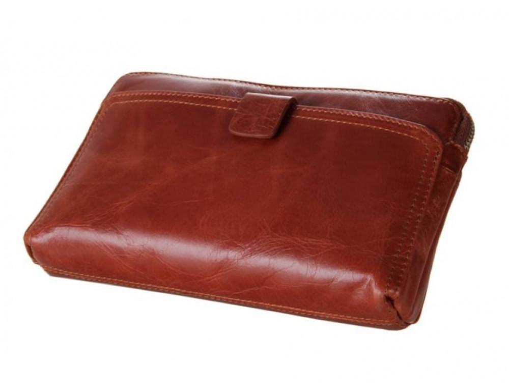 Кожаный мужской клатч Tiding Bag 8037B светло-коричневый - Фото № 3
