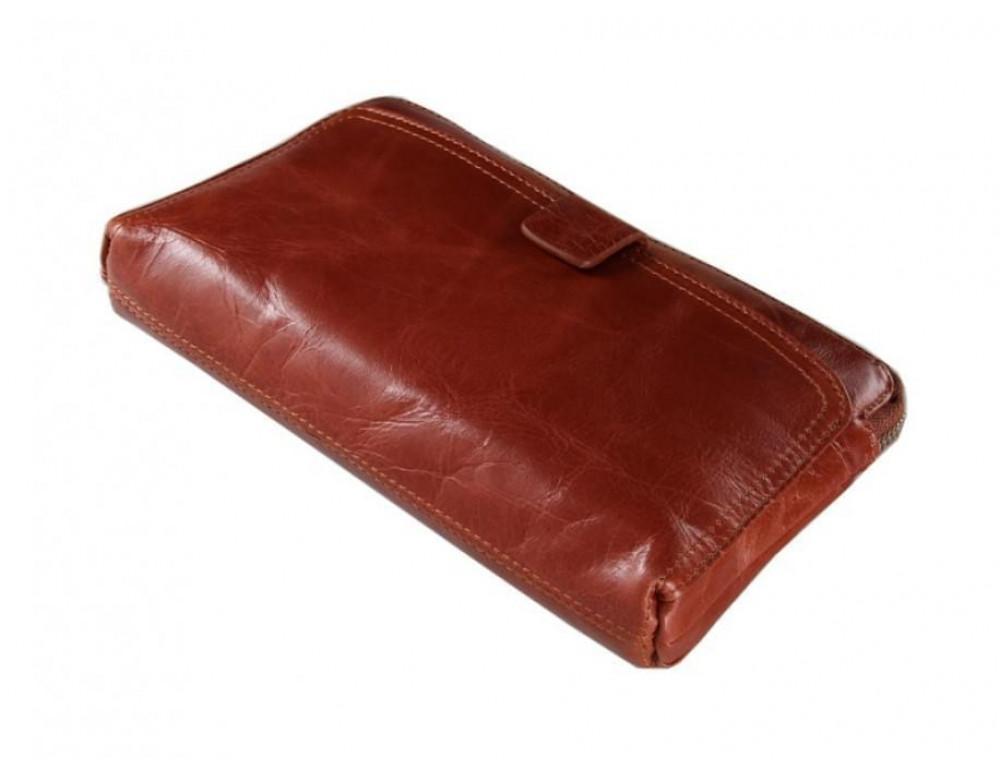 Кожаный мужской клатч Tiding Bag 8037B светло-коричневый - Фото № 4