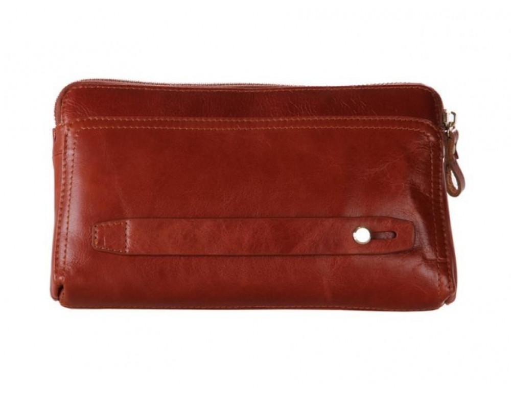 Кожаный мужской клатч Tiding Bag 8037B светло-коричневый - Фото № 5