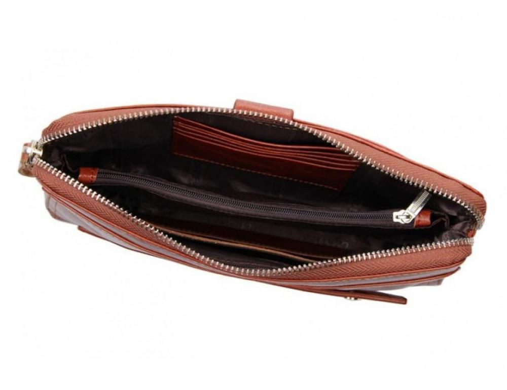 Кожаный мужской клатч Tiding Bag 8037B светло-коричневый - Фото № 7