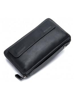 Чорний шкіряний клатч Tiding Bag 8039A