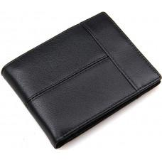 Чёрный кошелёк мужской Tiding Bag 8064A