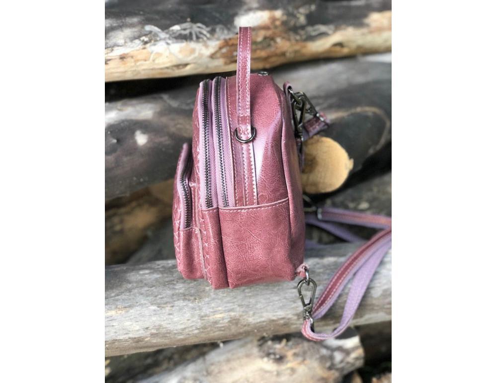 Кожаная сумка - рюкзак Grays 8103P Розовый - Фото № 2