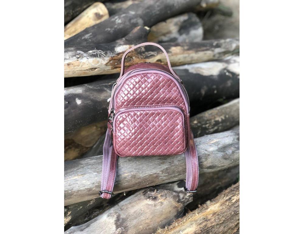 Кожаная сумка - рюкзак Grays 8103P Розовый - Фото № 1