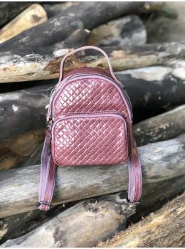 Кожаная сумка - рюкзак Grays 8103P Розовый