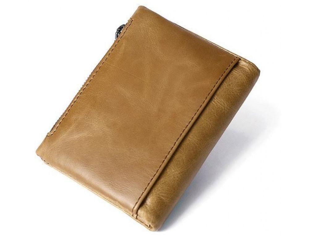 Рыжий кожаный кошелёк Tiding Bag 8109C - Фото № 2