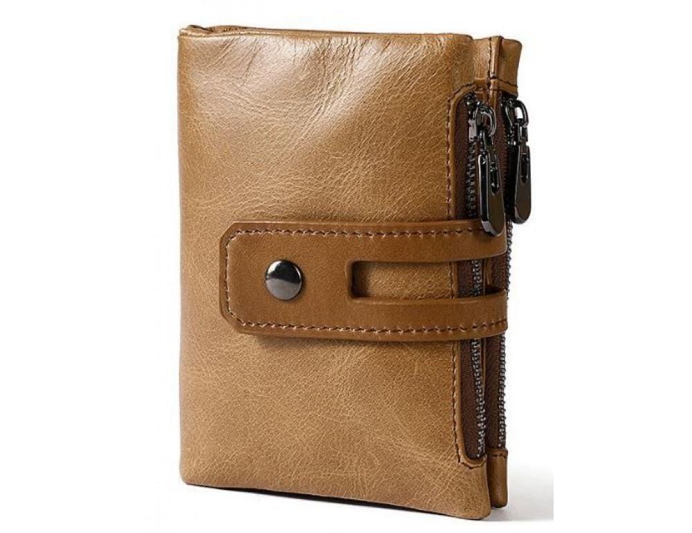 Рыжий кожаный кошелёк Tiding Bag 8109C - Фото № 1