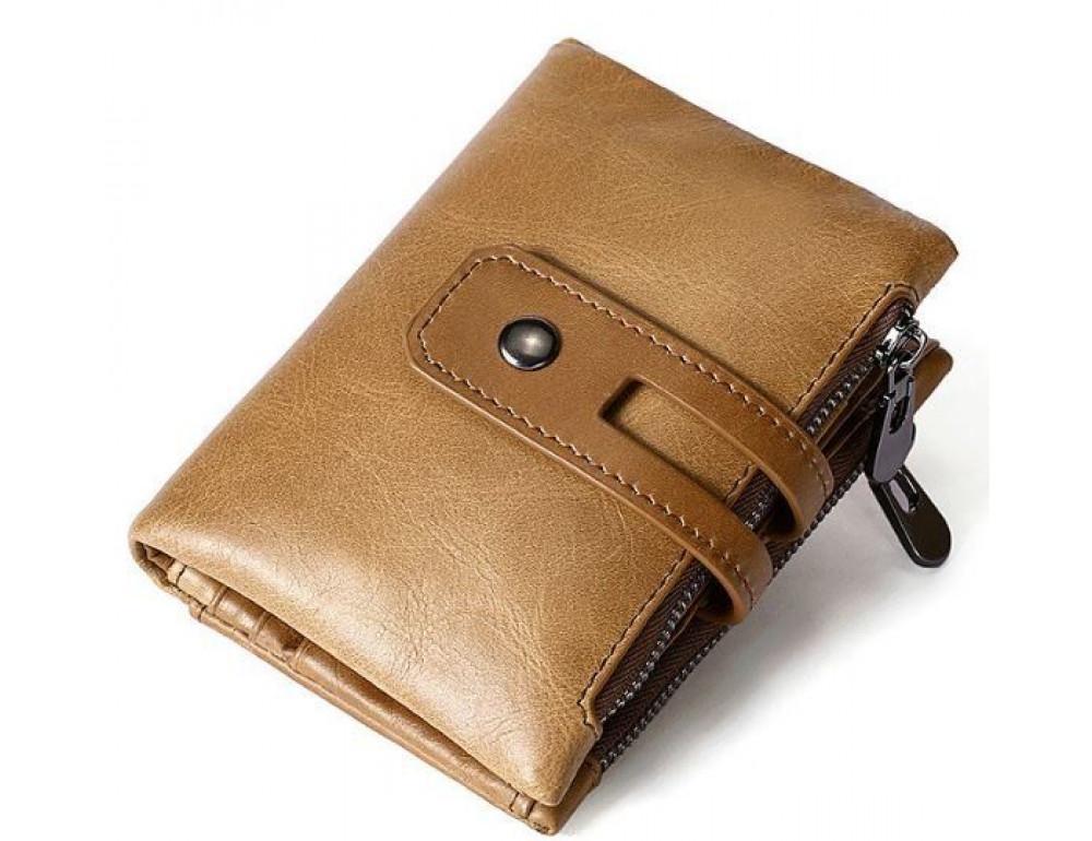 Рыжий кожаный кошелёк Tiding Bag 8109C - Фото № 3