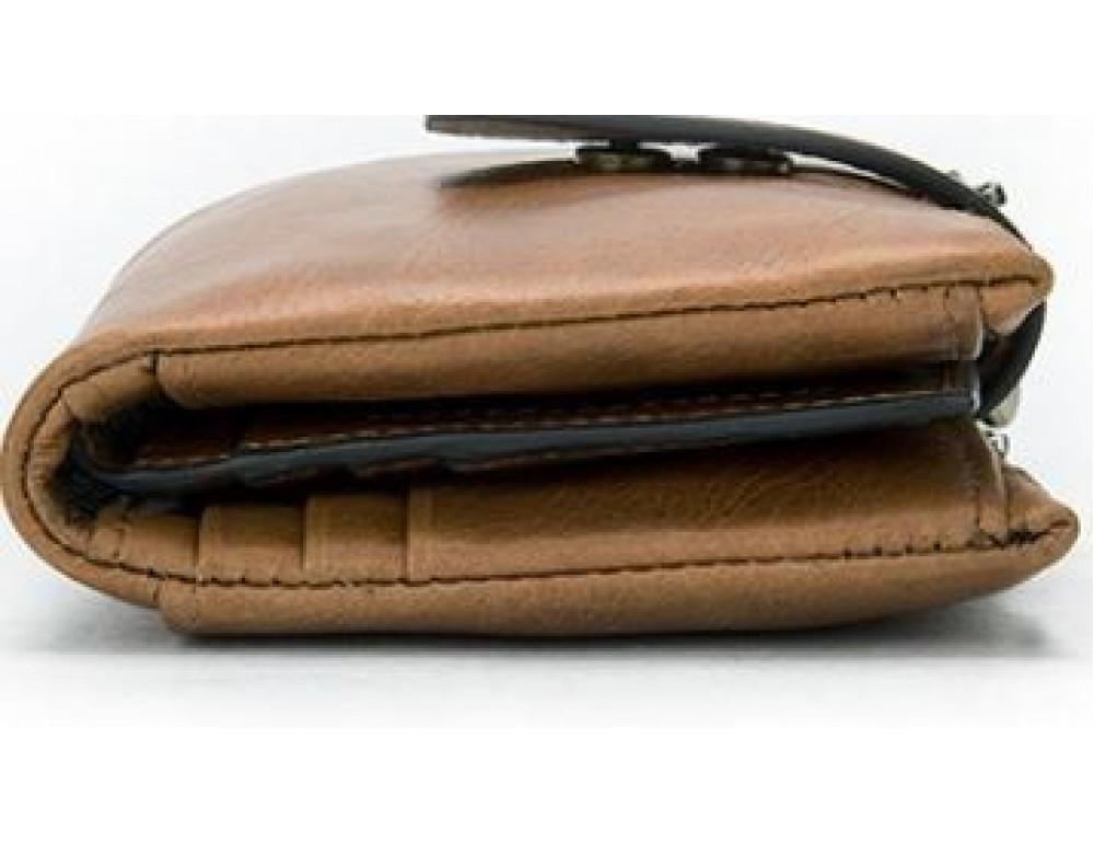 Рыжий кожаный кошелёк Tiding Bag 8109C - Фото № 4