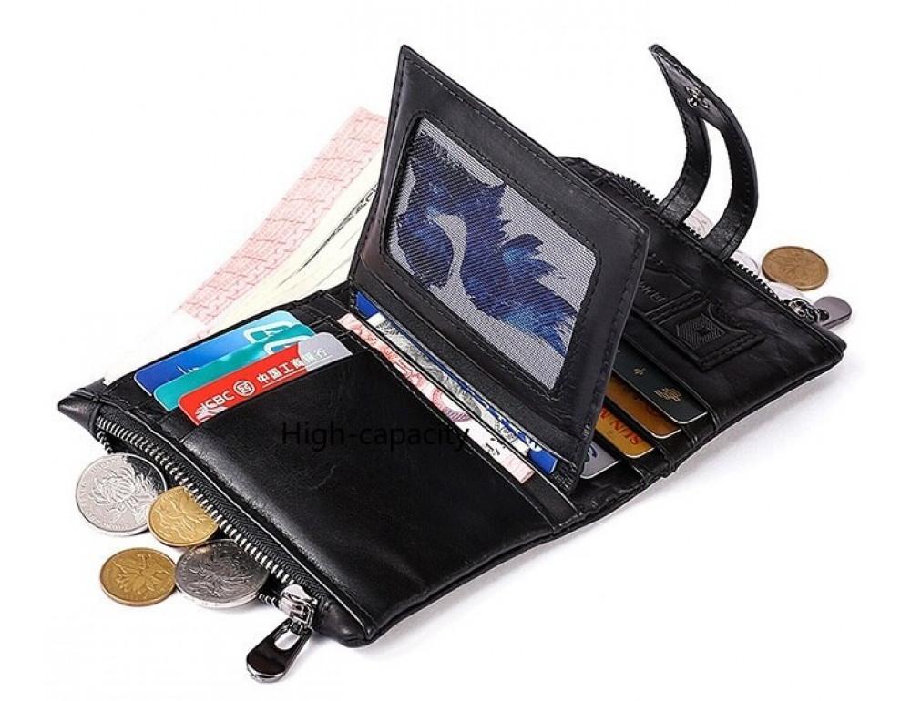 Рыжий кожаный кошелёк Tiding Bag 8109C - Фото № 7