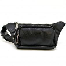 Чёрная напоясная сумка кожаная TARWA FA-8179-3md