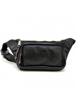 Чорна напоясний сумка шкіряна TARWA FA-8179-3md