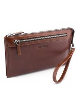 Большой мужской кожаный клатч коричневого цвета Marco Coverna 8519-3-brown