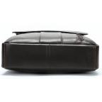 Тёмно-коричневая вертикальная кожаная сумка через плечо Tiding Bag 8567DB - Фото № 105