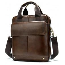 Коричнева шкіряна сумка через плече Tiding Bag 8579C