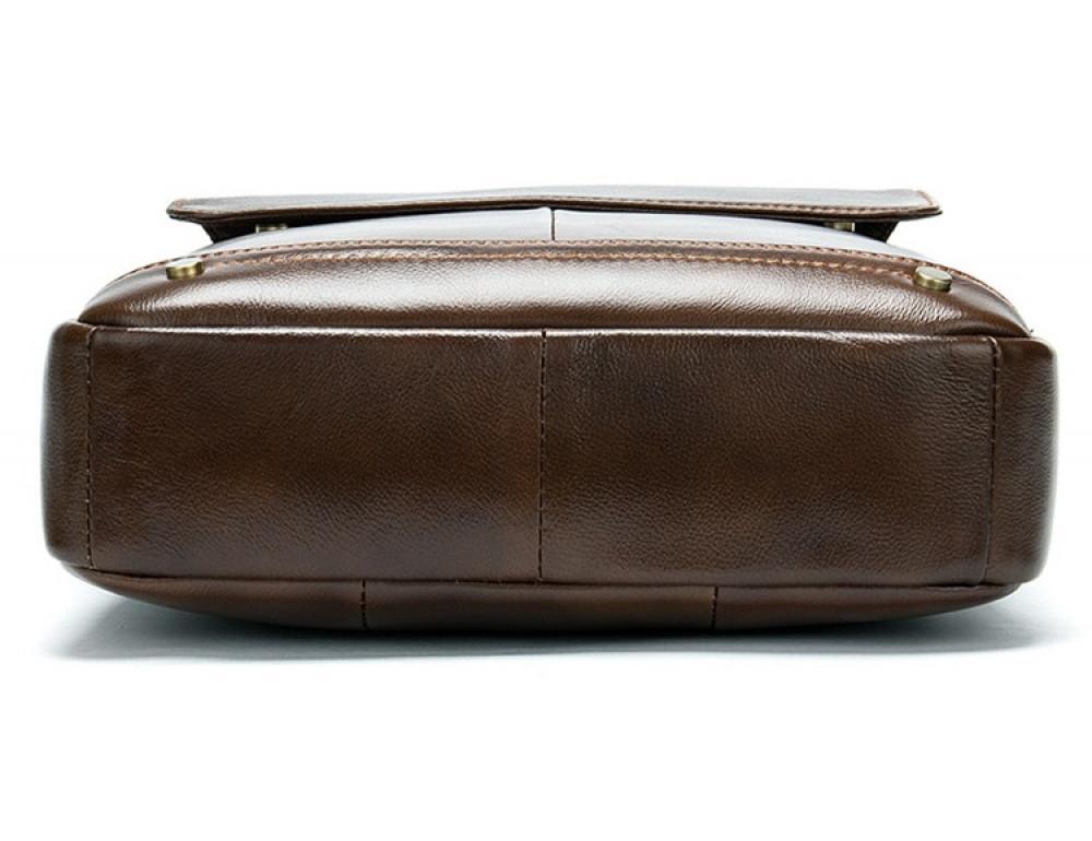 Коричневая кожаная сумка через плечо Tiding Bag 8579C - Фото № 5
