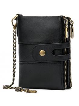 Чорний шкіряний гаманець Tiding Bag 8599A