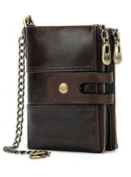 Темно-коричневий шкіряний гаманець Tiding Bag 8599B