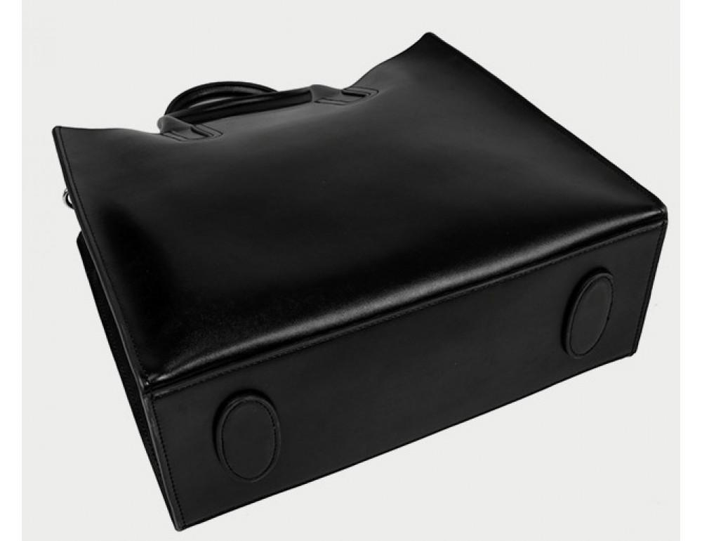 Кожаная сумка Grays 8644A Чёрная - Фото № 5