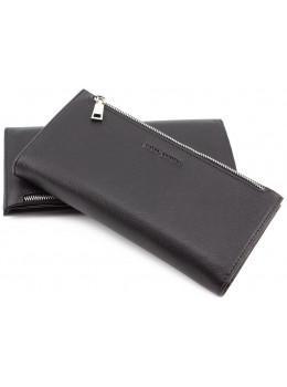 Чёрный стильный портмоне на магните Marco Coverna 866-1261