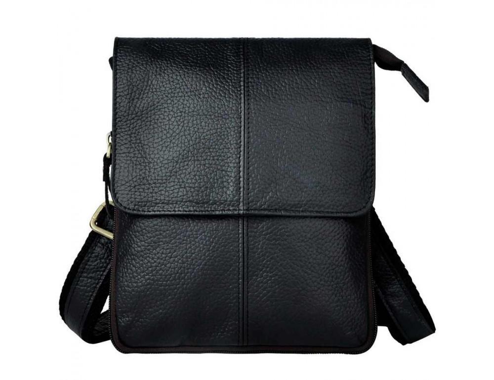 Чоловіча шкіряна сумка Tiding Bag 8713A Чорна
