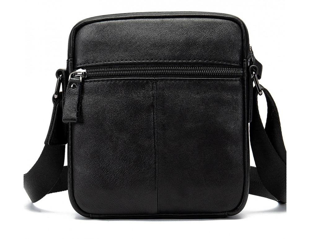 Чёрная мужская кожаная маленькая сумка Tiding Bag 8715A - Фото № 2