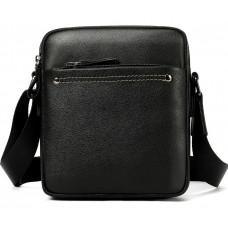 Чёрная мужская кожаная маленькая сумка Tiding Bag 8715A