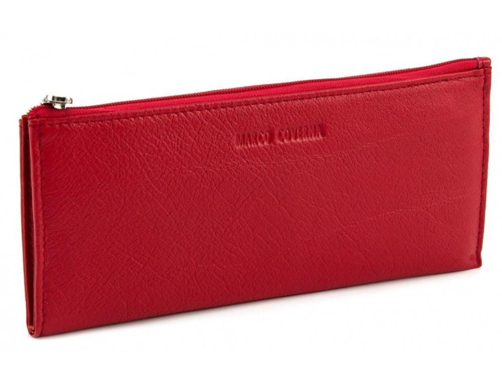 Женский кожаный кошелек Marco Coverna 8805-2 красный - Фото № 1